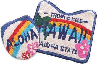 【kahiko】HAWAIIAN TOILETRY COVER&MAT / ハワイアントイレセット ホワイト