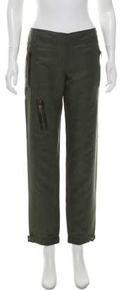 Magaschoni Mid-Rise Silk Cargo Pants