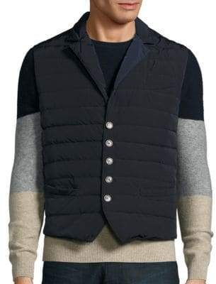 Eleventy Quilted Button Vest