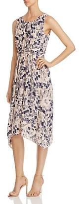 Nic+Zoe Petal or Nothing Shirred Midi Dress