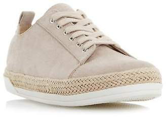 Roberto Vianni Ladies EMERA Espadrille Trim Trainer in Taupe Size UK 3