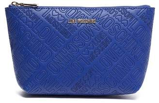 Love Moschino Embossed Zip Travel Pouch