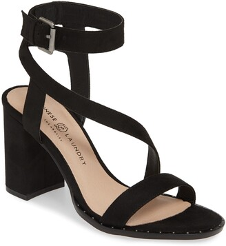 dab73ec48b Chinese Laundry Black Block Heel Women's Sandals - ShopStyle