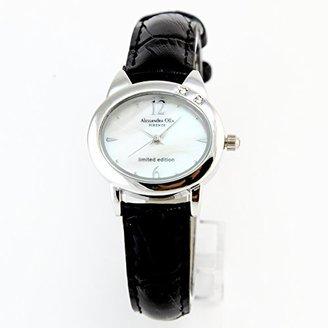 Alessandra Olla (アレッサンドラ オーラ) - [アレサンドラオーラ]Alessandra Olla ネコモチーフ 腕時計 AO2222BK スワロフスキー2石 シェル レディース