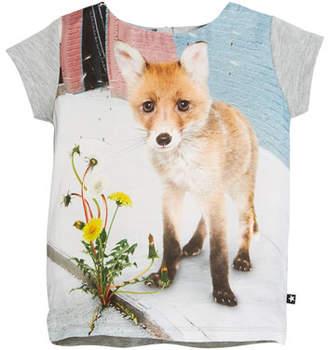Molo Rubertha Short-Sleeve Fox T-Shirt, Size 3-10