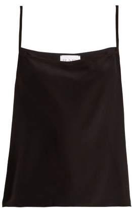 Raey Easy Silk Cami Top - Womens - Black