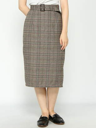WEGO (ウィゴー) - BROWNY BROWNY/(L)チェックナローミドルスカート ウィゴー スカート