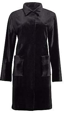 Zandra Rhodes Women's Shirred Mink Fur Patch Pocket Coat
