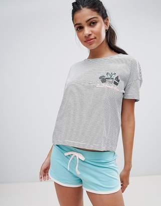 New Look Cactus Jersey Short Pajama Set