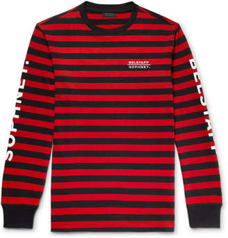 Belstaff Sophnet Slim-Fit Logo-Print Striped Cotton-Jersey T-Shirt - Men - Red