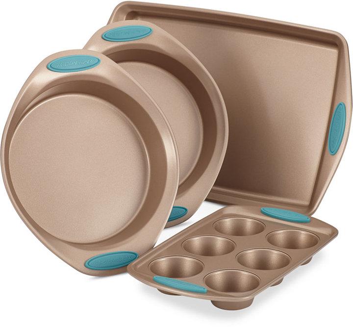 Rachael Ray Cucina 4-Pc. Agave Blue Nonstick Bakeware Set