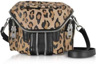 Alexander Wang Leopard Printed Suede Micro Marti Shoulder Bag