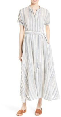 Women's Theory Avinka Vall Stripe Maxi Shirtdress $565 thestylecure.com
