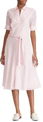 Ralph Lauren Striped Belted Shirt Dress