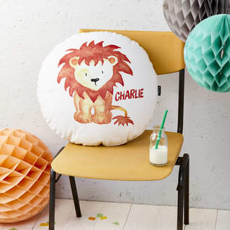 TILLYANNA Personalised Lion Round Cushion