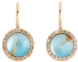 Roberto Coin 'Cocktail' diamond agate chalcedony drop earrings