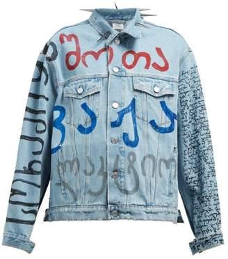 Vetements Spike Collar Denim Jacket - Womens - Denim
