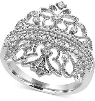 Effy Pave Classica by Diamond Tiara Ring (1/2 ct. t.w.) in 14k White Gold