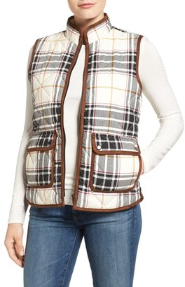 Women's Foxcroft Plaid Quilt Vest $98 thestylecure.com