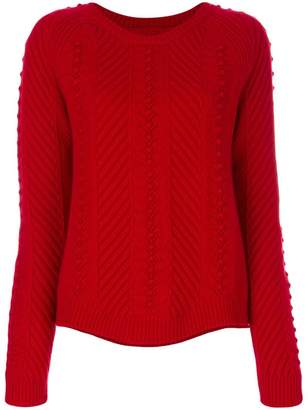 Parker Chinti & Knot-stitch cable jumper