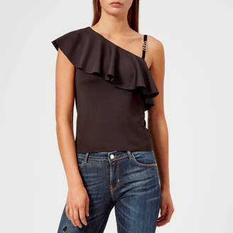 GUESS Women's One Shoulder Betty Knitted Top