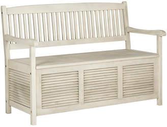 One Kings Lane Outdoor Lydia Storage Bench - Off-White