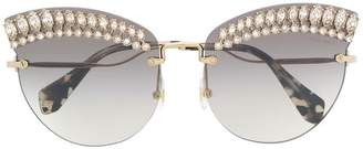 Miu Miu faux-crystal embellished sunglasses