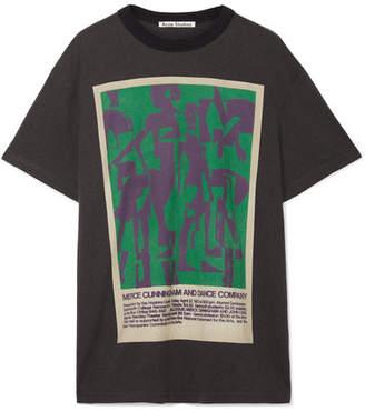 Acne Studios - Esmeta Printed Cotton-jersey T-shirt - Black