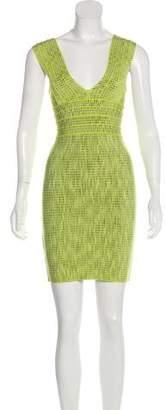 Herve Leger Patterned Bandage Mini Dress