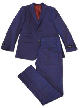 Ike Behar IKE by Plaid Peak-Lapels Suit
