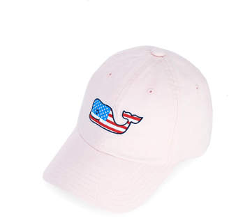 Vineyard Vines Little Kids Flag Whale Baseball Hat