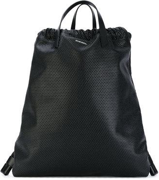 Diesel handle applique backpack $231.19 thestylecure.com