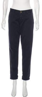 Current/Elliott Mid-Rise Straight-Leg Pants