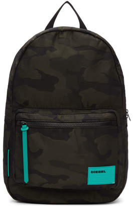 Diesel Green and Black Camo F-Discover Backpack