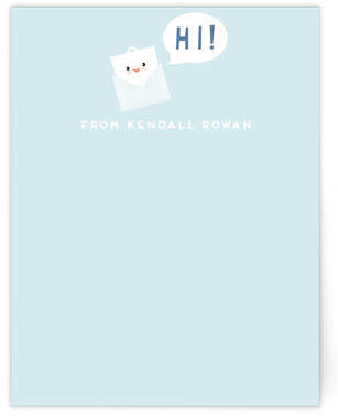 Happy Little Note Children's Personalized Stationery
