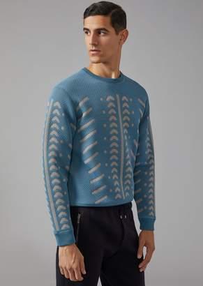 Giorgio Armani Tribal Jacquard Sweatshirt