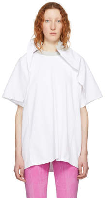 Y/Project White Flap Around Shoulder T-Shirt