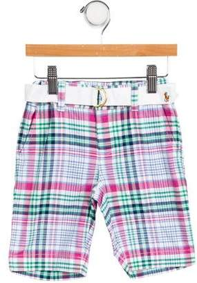 Ralph Lauren Boys' Belted Plaid Shorts