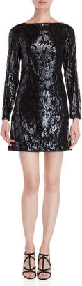 Vince Camuto Sequin Long Sleeve Dress