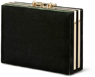 M2Malletier Velvet Box Clutch Bag
