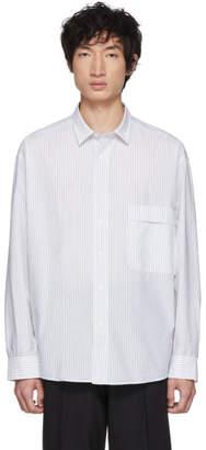 HUGO White and Black Boucle Stripe Shirt