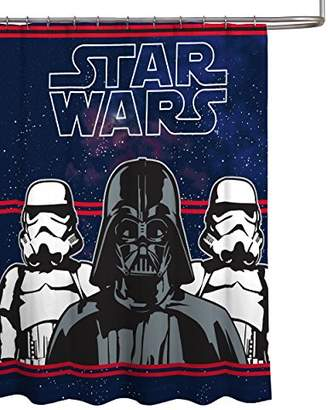 "Star Wars Darth Vader Microfiber 70"" x 72"" Fabric Shower Curtain"