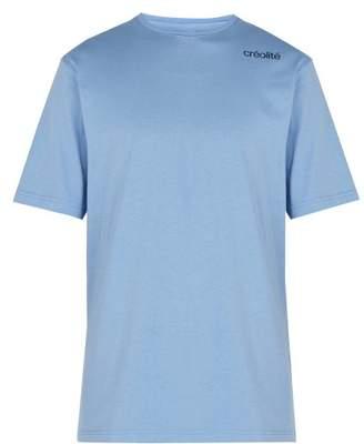 Wales Bonner Creolite Cotton T Shirt - Mens - Blue