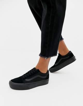 Vans Old Skool triple black platform sneakers