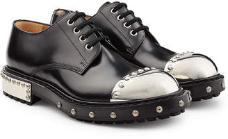 Alexander McQueen Embellished Leather Shoes with Toecap