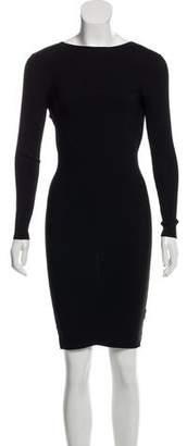 Helmut Lang Ribbed Cutout Dress