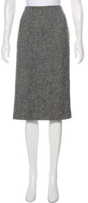 Alexander McQueen Tweed Virgin Wool Skirt