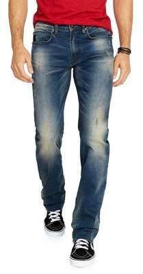 Buffalo David Bitton Six-X Sandblasted & Whiskered Relaxed-Fit Jeans