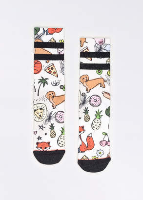 Stance Thoughts Socks   Wildfang Thoughts Crew Socks - WHITE - OS
