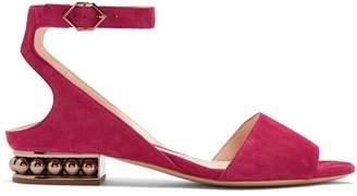 Nicholas Kirkwood Lola pearl-heeled suede sandals